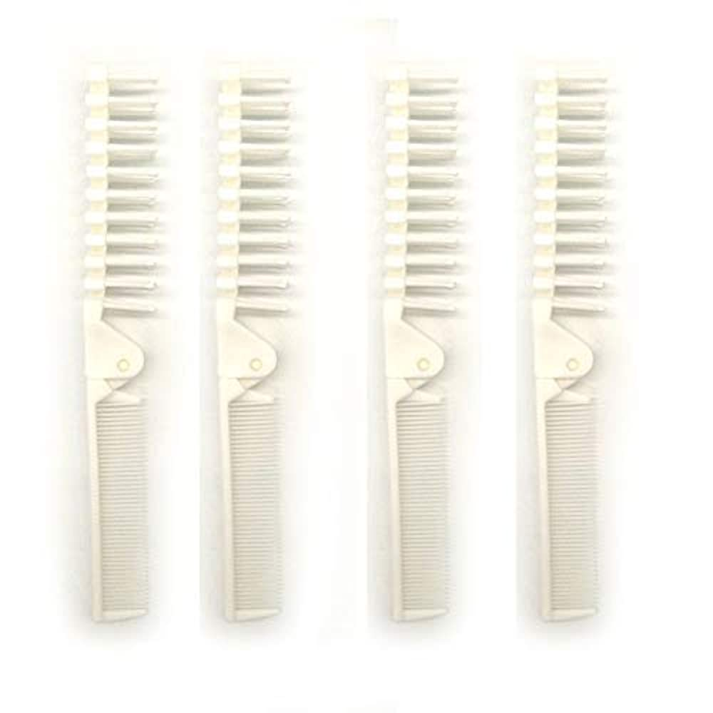 貸す順番ラメPUTYSUUN Portable Travel Size Comb Brush Combo Folding, Antistatic Pack of 4 [並行輸入品]