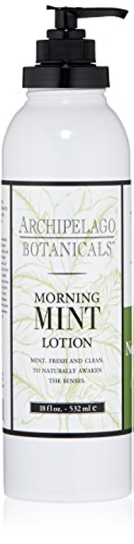 無礼にレタッチスズメバチArchipelago Botanicals Morning Mint Hydrating Lotion (並行輸入品)