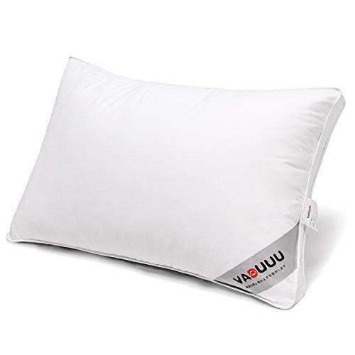VADUUU 枕 安眠枕 人気の肩こり対策まくら 快眠 高反発枕 いびき防止 頚椎サポート 高級ホテル仕様マクラ 父の日のプレゼント おすすめ 43x63cm(ホワイト)
