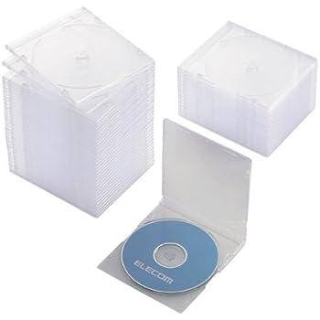 エレコム CD/DVDスリムプラケース/1枚収納/50パック/クリア