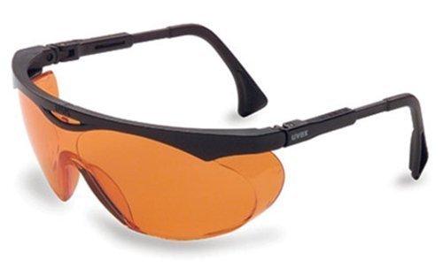 Uvex S1933X Skyper Safety Eyewear, Black Frame, Sct-Orange Uv Extreme Anti-Fog Lens [並行輸入品]