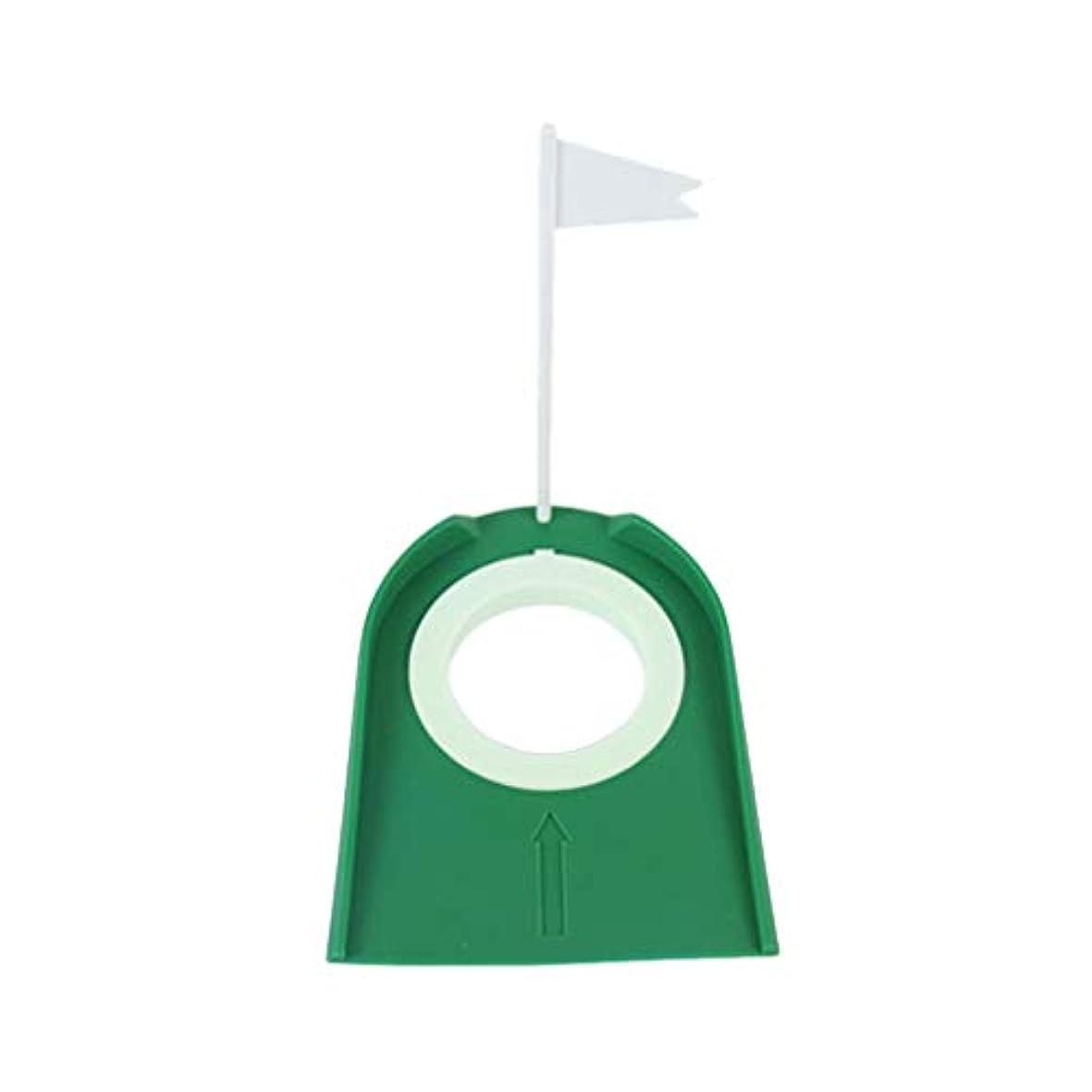 発生ネーピア眠りGarneck ゴルフパッティンググリーンフラッグホールカップゴルフパター練習補助具庭用屋外屋内ゴルフトレーニング補助具(グリーン)
