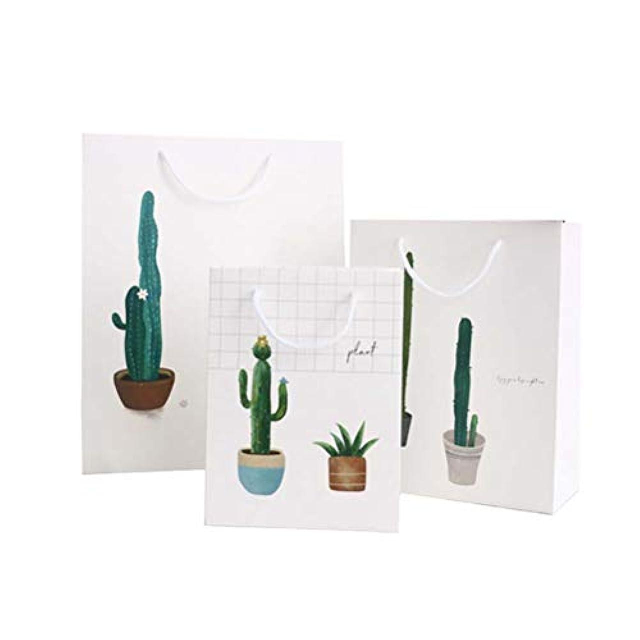 パワーマウンド時系列Amosfun 夏のギフトバッグ植物印刷ギフト収納ポーチ折りたたみトートバッグリサイクル可能なポータブル紙ハンドバッグ(1ピースサイズS + M + L)3ピース