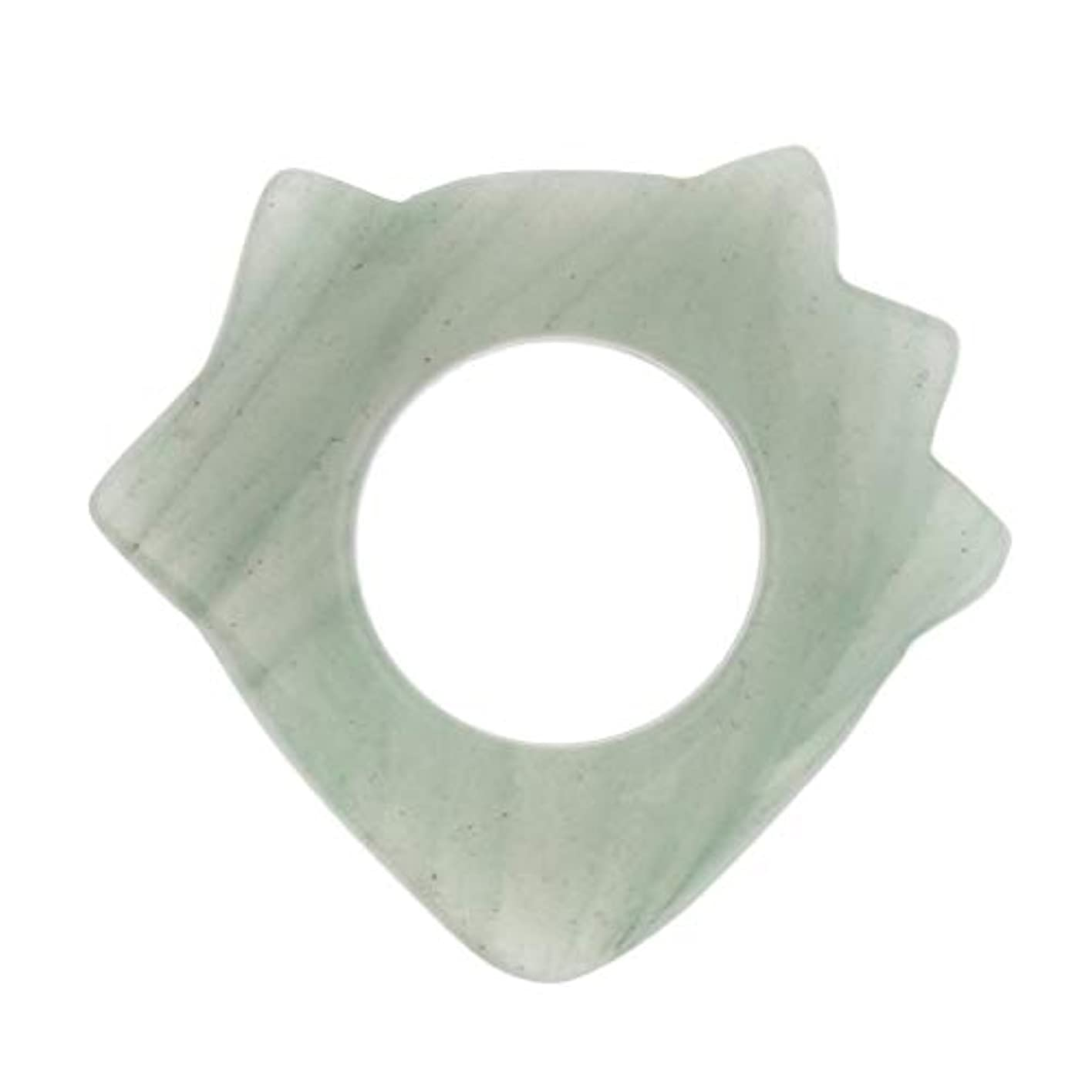 切り離す登録石化するかっさプレート マッサージ 美顔 天然翡翠 高品質 ポータブル ギフト 健康用品 疲労緩解 5種選ぶ - 1