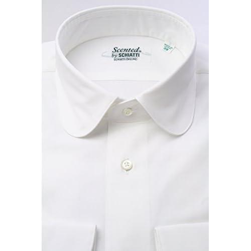 (スキャッティ) Scented 白無地 80番手 双糸 ピンポイントオックス ラウンドカラー ドレスシャツ rd2528-3882