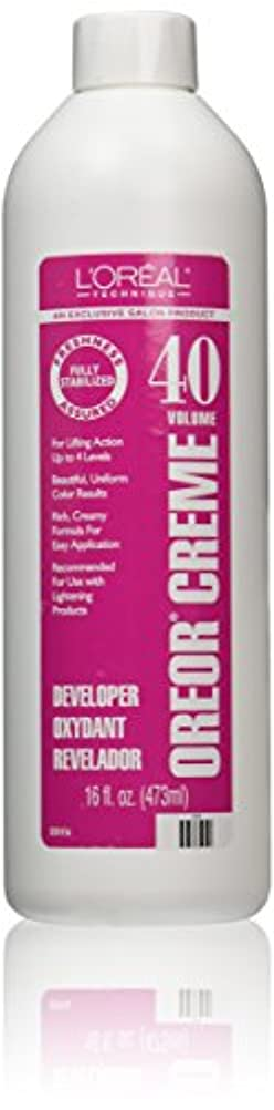 偶然襲撃黙Loreal Oreor Creme 40 Volume Developer 16 Oz. (並行輸入品)