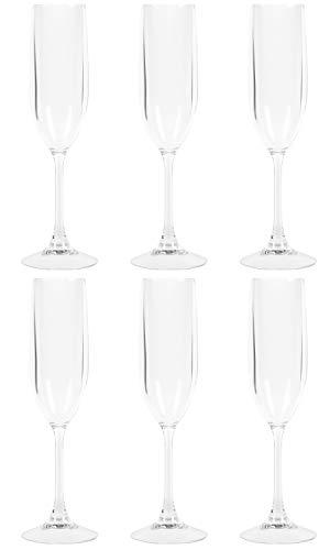 TRITAN (トライタン) シャンパーニュ 合成樹脂グラス 6脚セット シャンパングラス ガラスじゃないから軽量 割れにくい