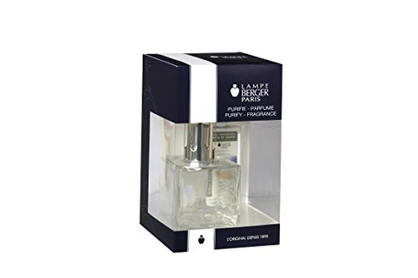無数の修正パワーセルLampe Berger ランプ ギフトセット 透明キューブ フレグランス付き オーシャンブリーズ 180ml 6.08液量オンス