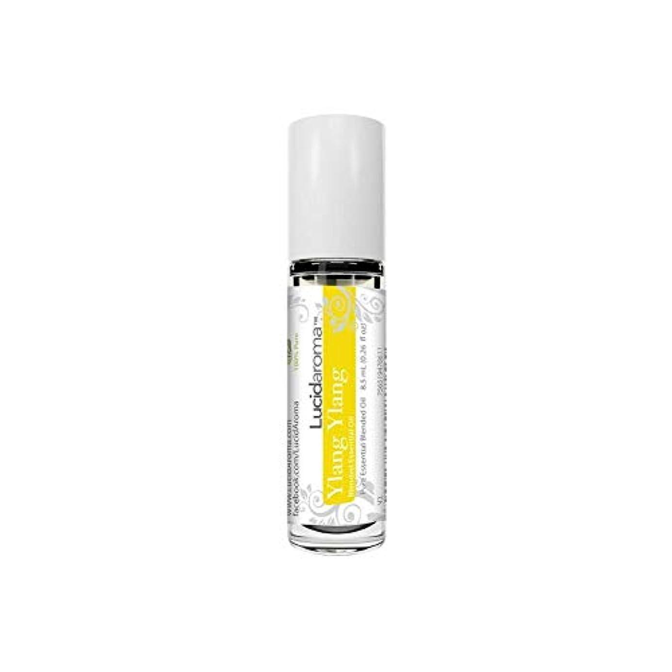 メロディアス消毒剤突っ込むLucid Aroma Ylang Ylang イランイラン ロールオン アロマオイル 8.5mL (塗るアロマ) 100%天然 携帯便利 ラックス アメリカ製