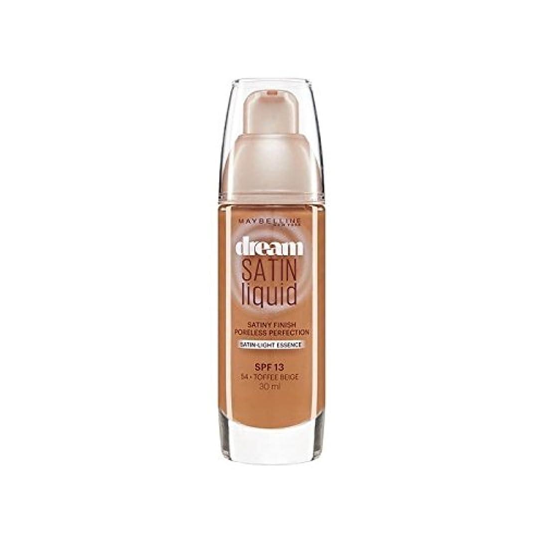 クリアギネスひばりメイベリン夢サテンリキッドファンデーション54タフィー30ミリリットル x2 - Maybelline Dream Satin Liquid Foundation 54 Toffee 30ml (Pack of 2) [...
