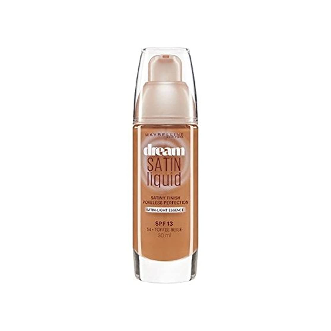 シャックルほとんどの場合誤解Maybelline Dream Satin Liquid Foundation 54 Toffee 30ml (Pack of 6) - メイベリン夢サテンリキッドファンデーション54タフィー30ミリリットル x6 [...