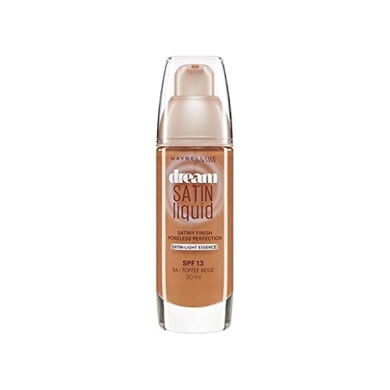 水分ウェイトレス取り消すMaybelline Dream Satin Liquid Foundation 54 Toffee 30ml - メイベリン夢サテンリキッドファンデーション54タフィー30ミリリットル [並行輸入品]