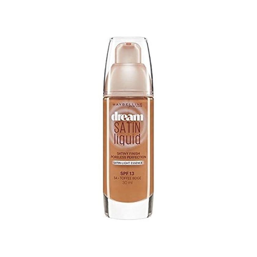 担保主張する苛性Maybelline Dream Satin Liquid Foundation 54 Toffee 30ml - メイベリン夢サテンリキッドファンデーション54タフィー30ミリリットル [並行輸入品]