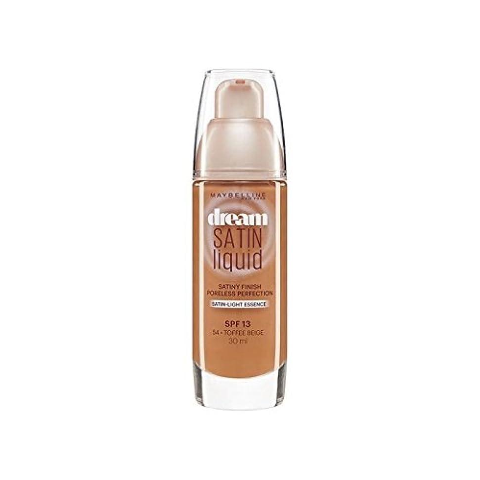 バイナリしがみつくなだめるMaybelline Dream Satin Liquid Foundation 54 Toffee 30ml (Pack of 6) - メイベリン夢サテンリキッドファンデーション54タフィー30ミリリットル x6 [...