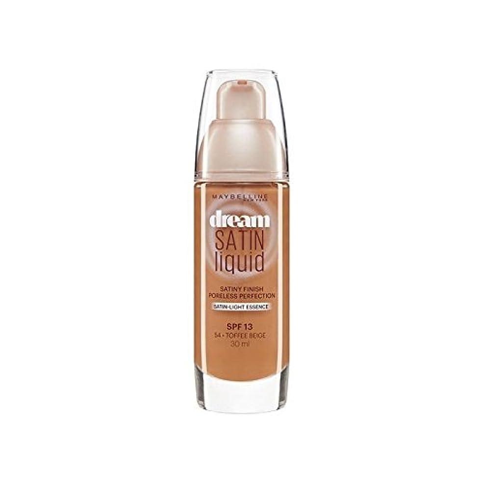 完全に乾く製造ゲインセイMaybelline Dream Satin Liquid Foundation 54 Toffee 30ml - メイベリン夢サテンリキッドファンデーション54タフィー30ミリリットル [並行輸入品]