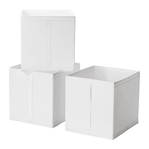 IKEA(イケア) SKUBB ホワイト 10186390 ボックス、ホワイ...