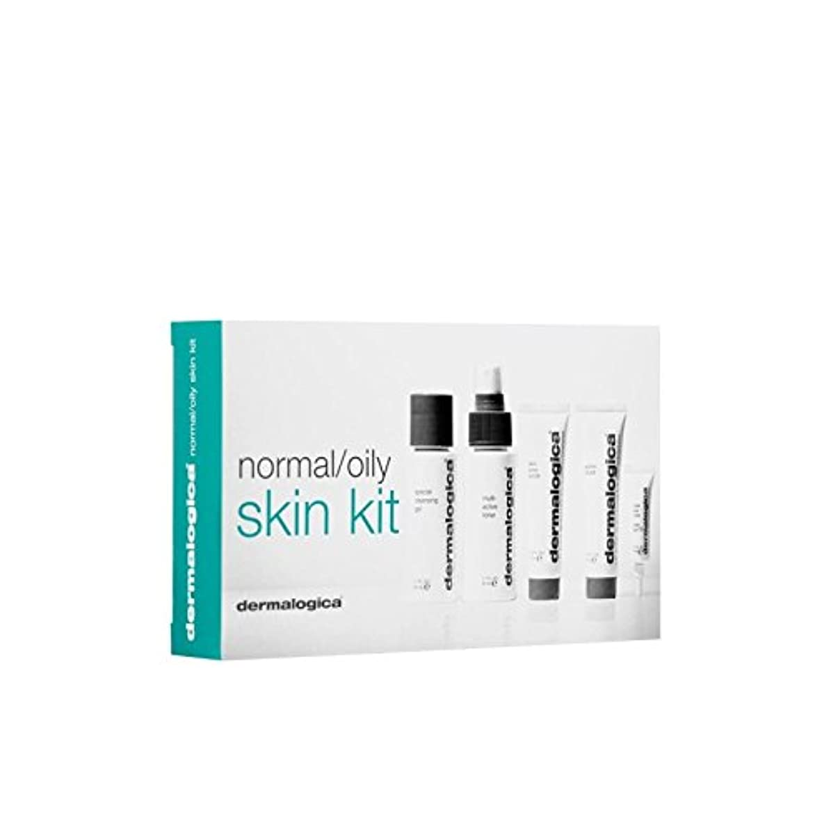 貝殻刺激する褐色ダーマロジカスキンキット - ノーマル/オイリー(5製品) x2 - Dermalogica Skin Kit - Normal/Oily (5 Products) (Pack of 2) [並行輸入品]