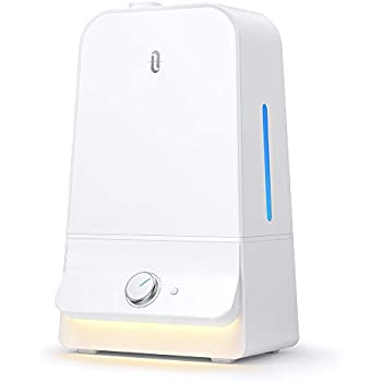 加湿器 TaoTronics 超音波式 加湿器 大容量 6.0L 特許取得の26db超静音デザイン 高さ1Mミスト 空焚き防止 60時間連続加湿 LEDライト付き 14.5-24畳対応 省エネ TT-AH025 ホワイト
