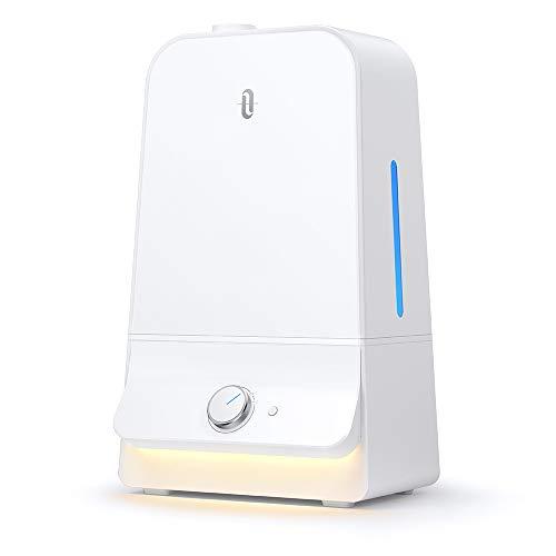 加湿器 TaoTronics 超音波式 加湿器 大容量 6.0L 特許取得の26db超静音デザイン 高さ1Mミスト 空焚き防止 60時間連続加湿 LEDライト付き 14.5-24畳対応 省エネ TT-AH025