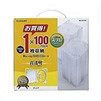 ELECOM(エレコム) Blu-ray/DVD/CDケース(スリム/PS/1枚収納) CCD-JSCS100CR
