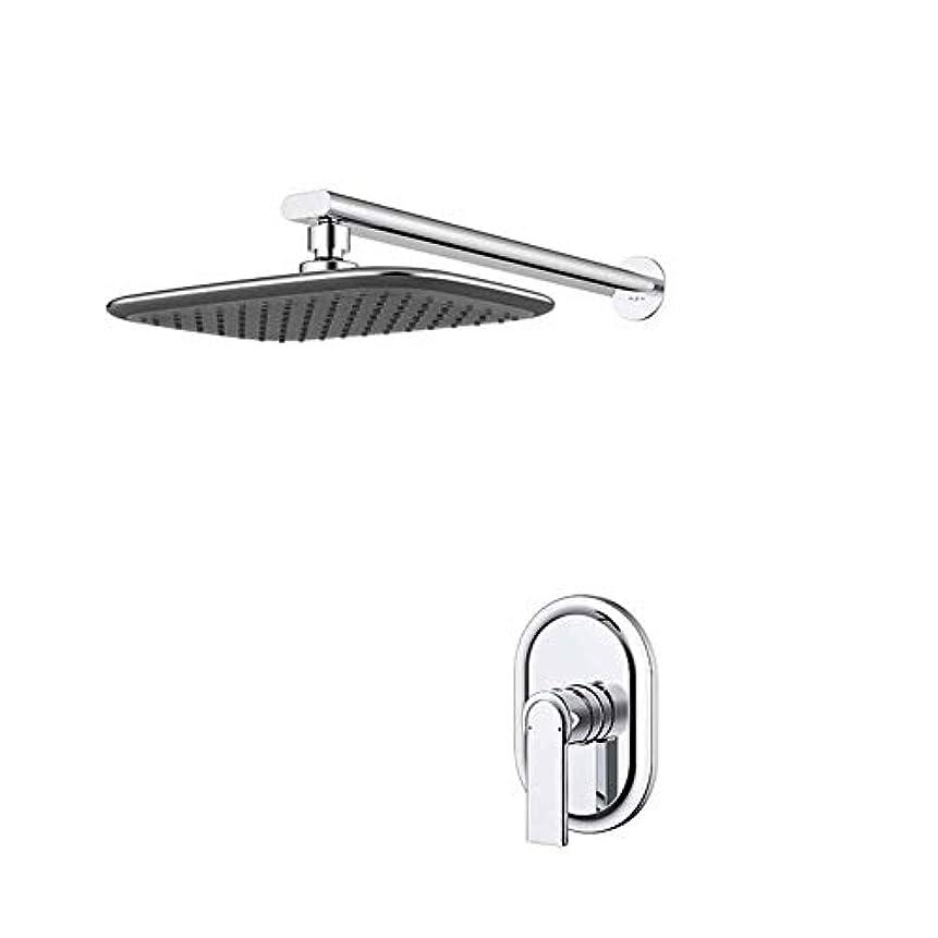 咲く身元十分ですシャワーシステム、クロムシャワーミキサーモダンタップミキサーシャワーセットの蛇口ダークマウントウォールセパレートボタンデザイン