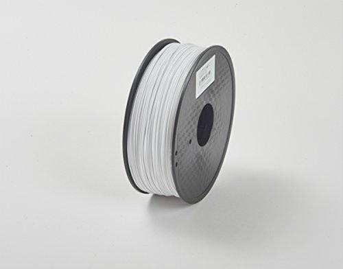 3Dプリンター用 フィラメント マテリアル PLA樹脂 材料 1Kg Makerbot / Reprap / UP Plus などFDM3Dプリンター対応 1.75mm径!13色選択可!スプール寸法: 幅200mm、穴径55mm、厚み72mm (ホワイト)