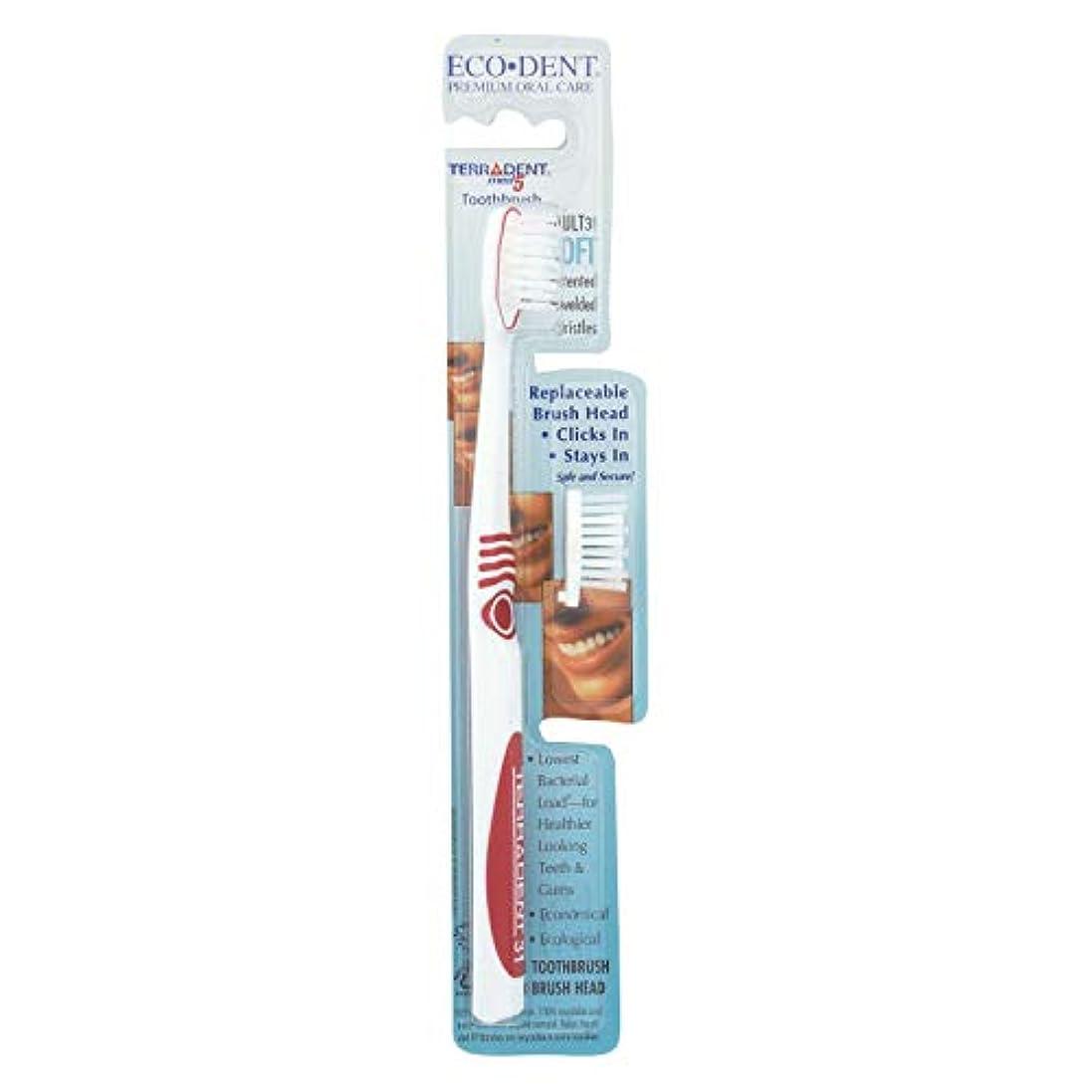 否定する溶けた頭蓋骨Terradent Med5, Adult 31 Soft, 1 Toothbrush, 1 Spare Brush Head by Eco-Dent
