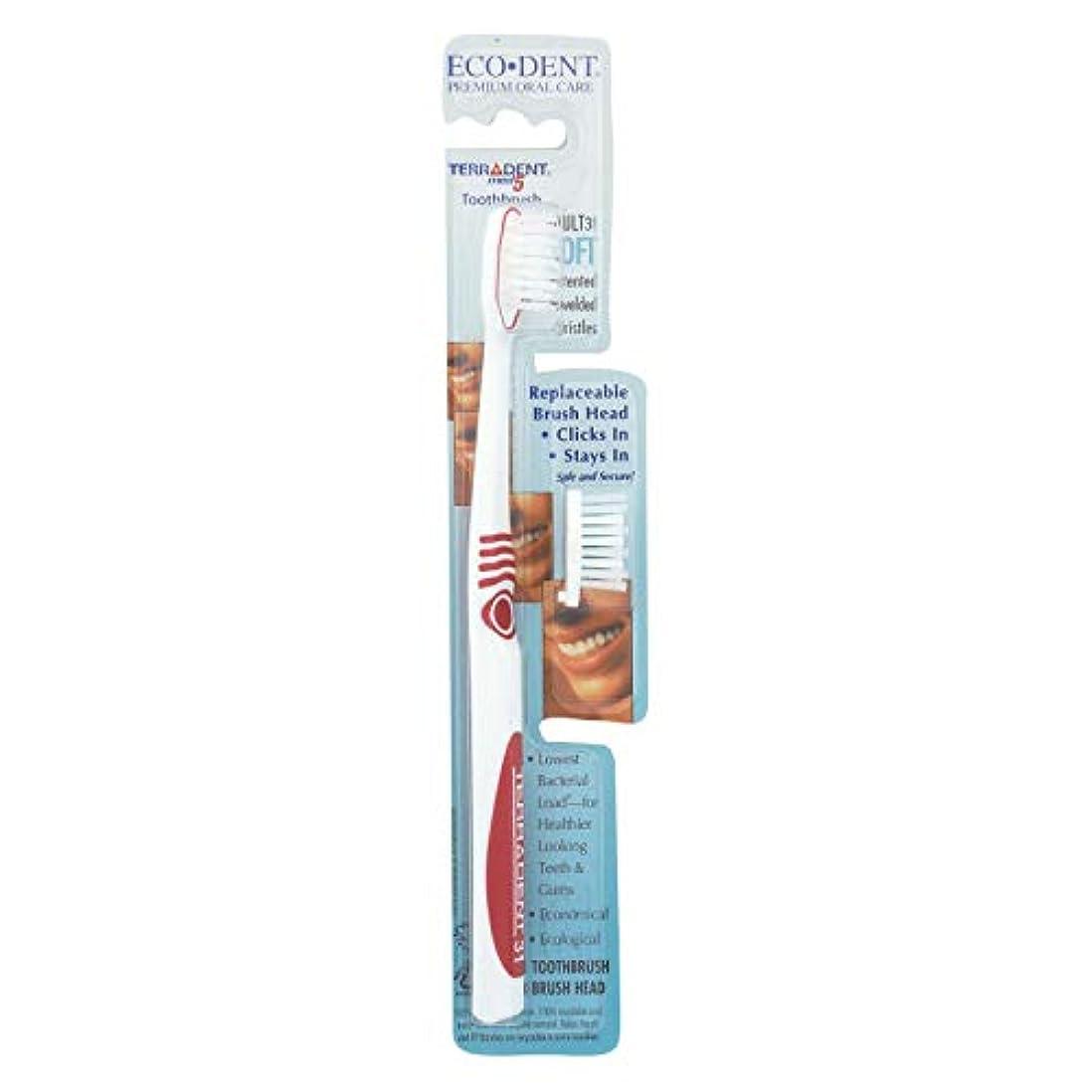 ひねくれた宣言する残りTerradent Med5, Adult 31 Soft, 1 Toothbrush, 1 Spare Brush Head by Eco-Dent