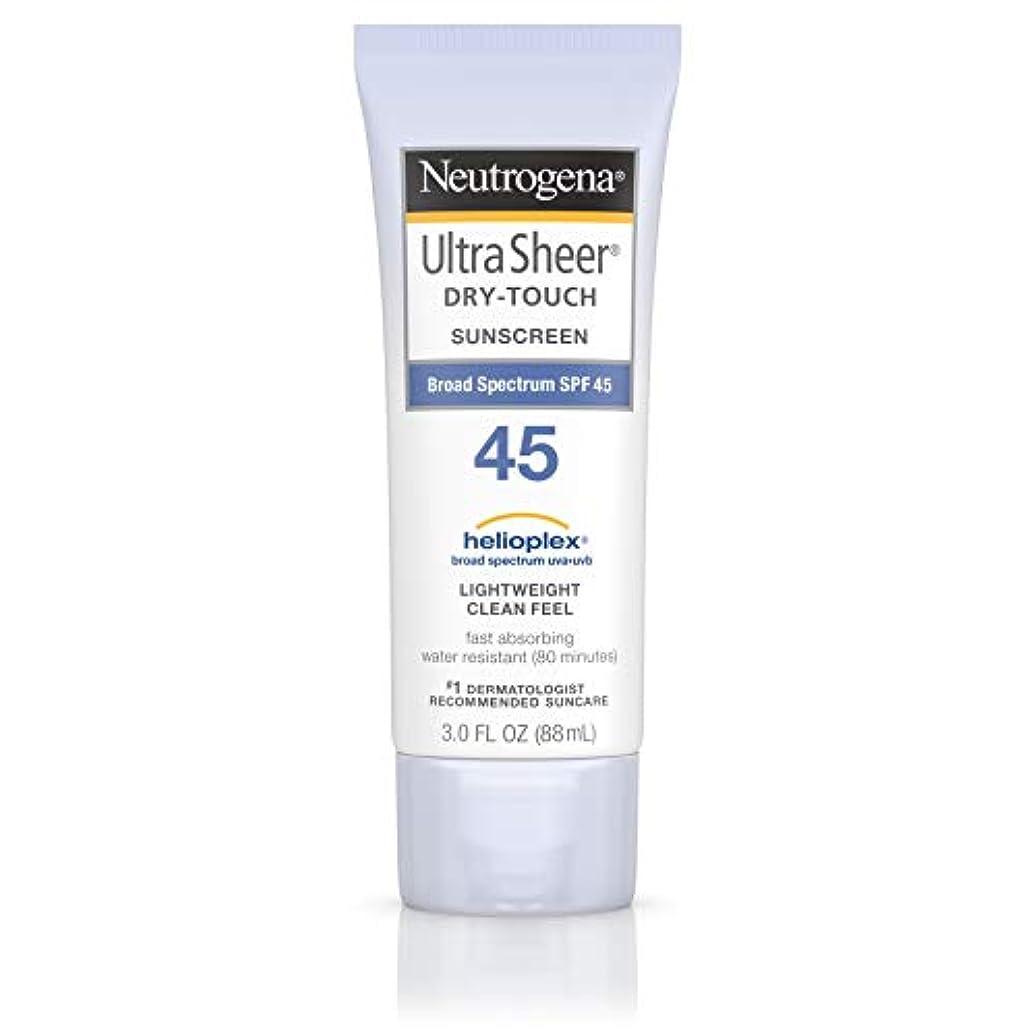 グレートバリアリーフ発動機定期的な海外直送品 Neutrogena Neutrogena Ultra Sheer Dry-Touch Sunblock Spf 45【並行輸入品】