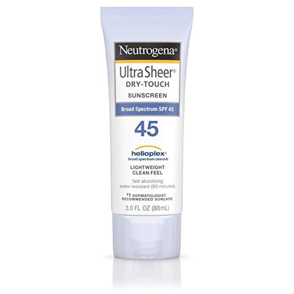 女の子証明パラシュート海外直送品 Neutrogena Neutrogena Ultra Sheer Dry-Touch Sunblock Spf 45【並行輸入品】