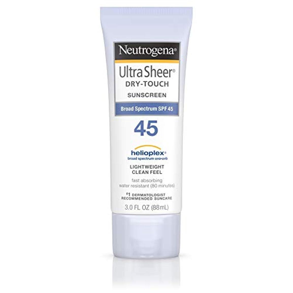 起きて色合いちらつき海外直送品 Neutrogena Neutrogena Ultra Sheer Dry-Touch Sunblock Spf 45【並行輸入品】