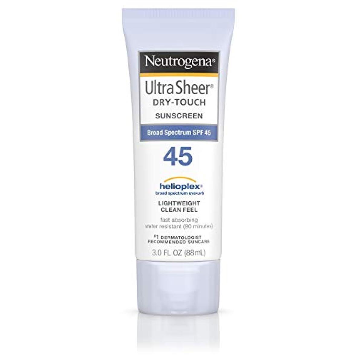 鏡証拠パック海外直送品 Neutrogena Neutrogena Ultra Sheer Dry-Touch Sunblock Spf 45【並行輸入品】