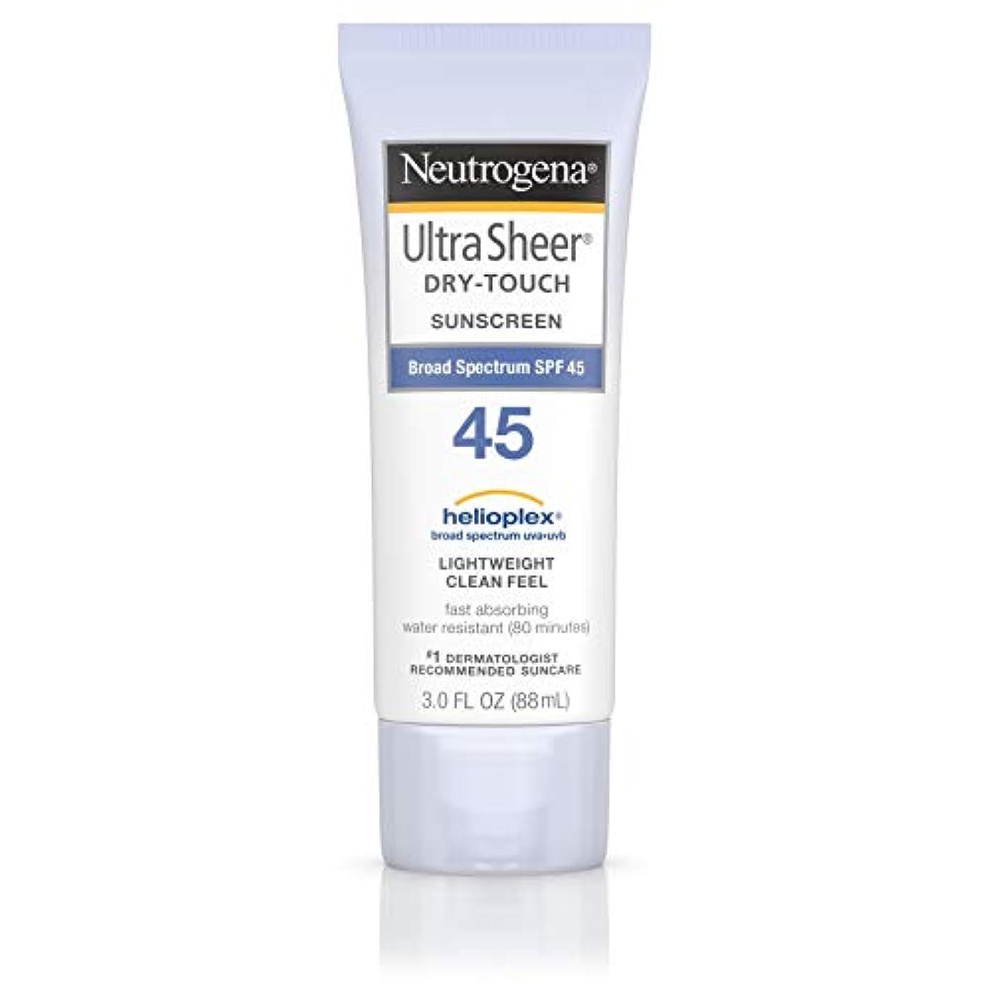 取り替える物思いにふけるで出来ている海外直送品 Neutrogena Neutrogena Ultra Sheer Dry-Touch Sunblock Spf 45【並行輸入品】