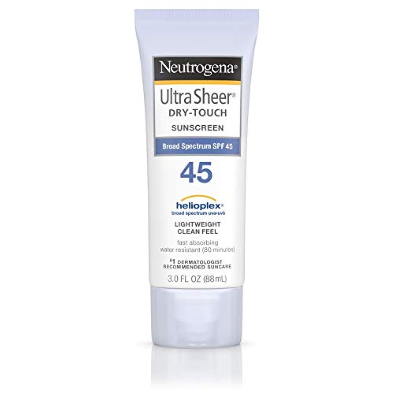 離れてくしゃみ教科書海外直送品 Neutrogena Neutrogena Ultra Sheer Dry-Touch Sunblock Spf 45【並行輸入品】