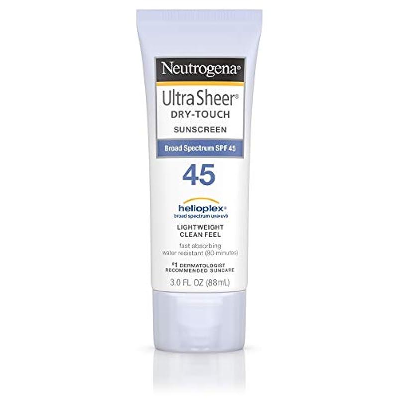 媒染剤彫刻家はちみつ海外直送品 Neutrogena Neutrogena Ultra Sheer Dry-Touch Sunblock Spf 45【並行輸入品】