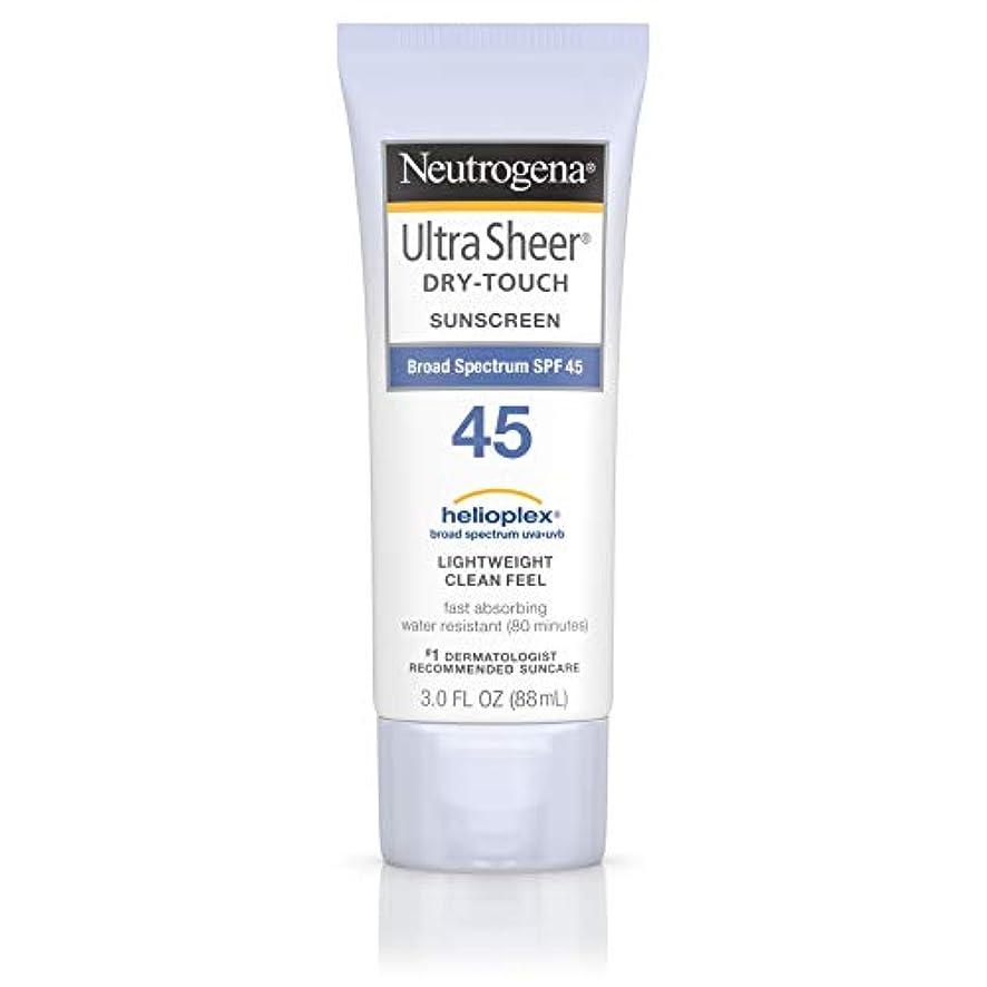 特徴高架奴隷海外直送品 Neutrogena Neutrogena Ultra Sheer Dry-Touch Sunblock Spf 45【並行輸入品】
