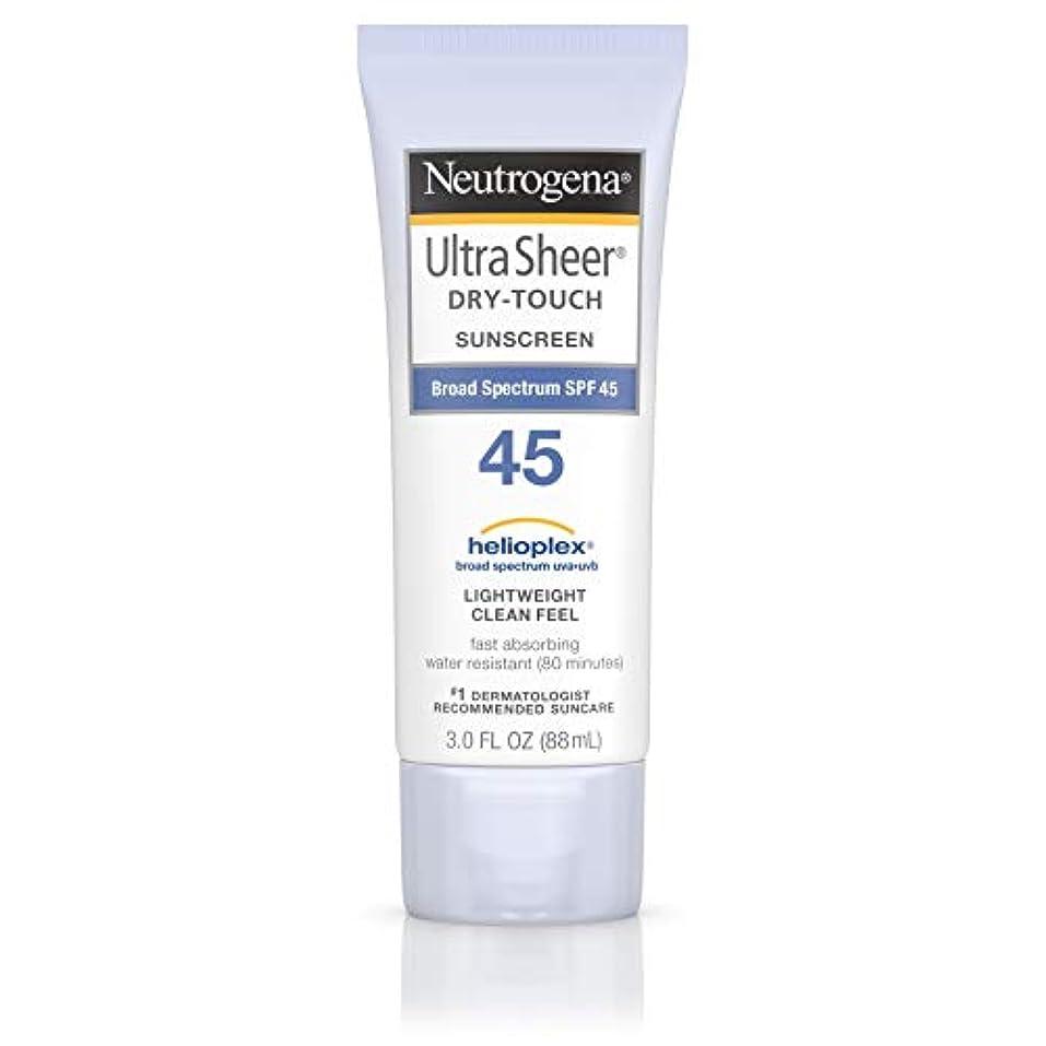 金銭的適合する不健康海外直送品 Neutrogena Neutrogena Ultra Sheer Dry-Touch Sunblock Spf 45【並行輸入品】