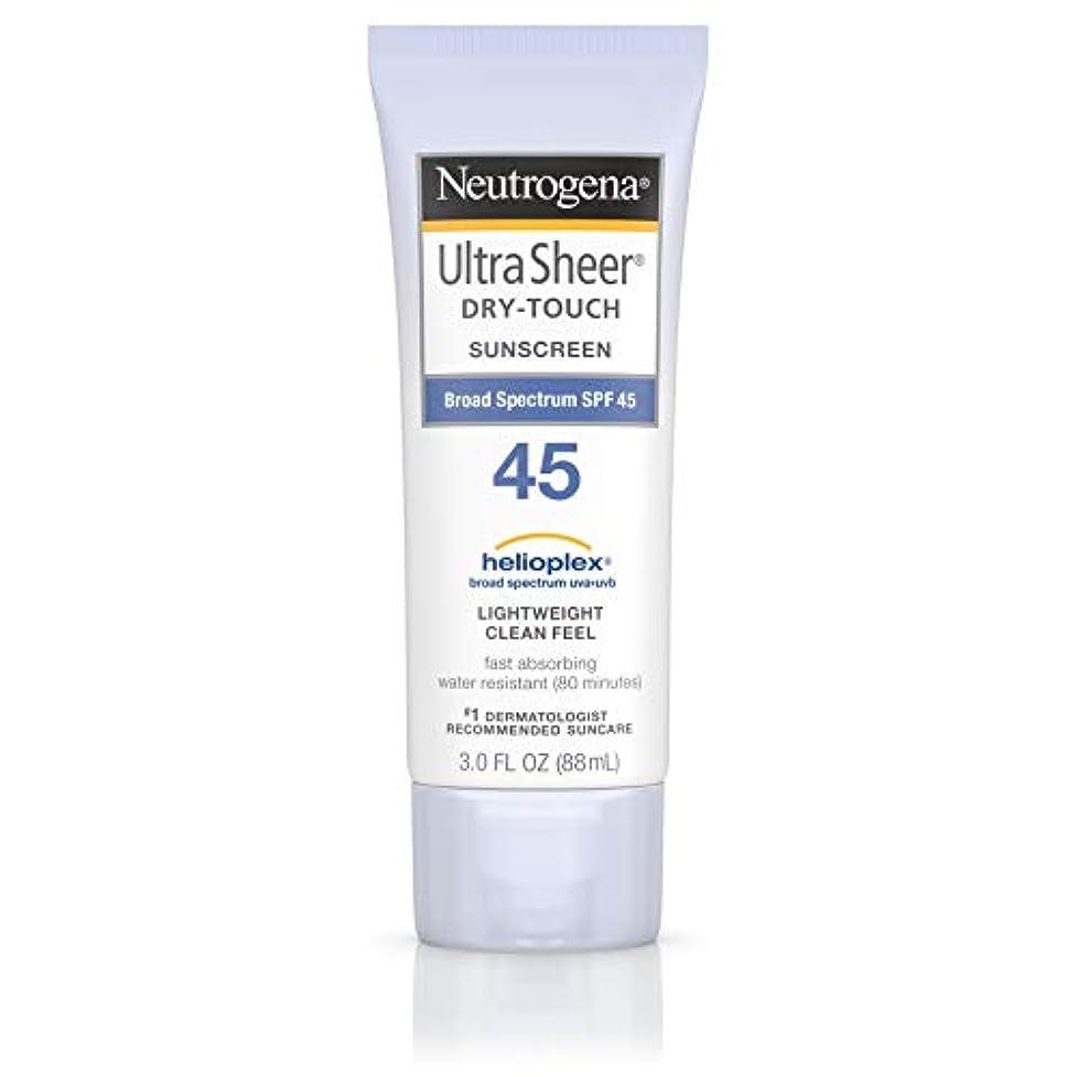 抑圧仮定、想定。推測防腐剤海外直送品 Neutrogena Neutrogena Ultra Sheer Dry-Touch Sunblock Spf 45【並行輸入品】