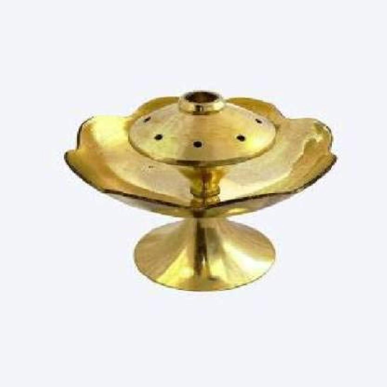 きゅうり究極の動かないRolimoli Brass Agarbatti Stand with Center Dhoop Holder with 8 Holes (Small)