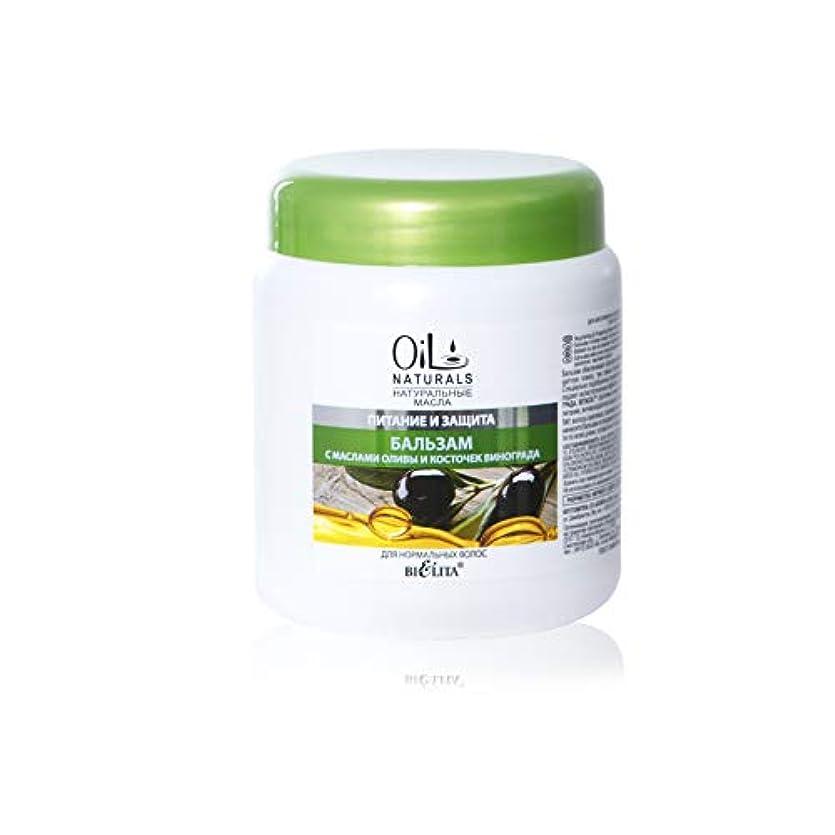 メモ食事著作権Bielita & Vitex Oil Naturals Line | Nutrition & Protection Balm for Normal Hair, 450 ml | Grape Seed Oil, Silk...