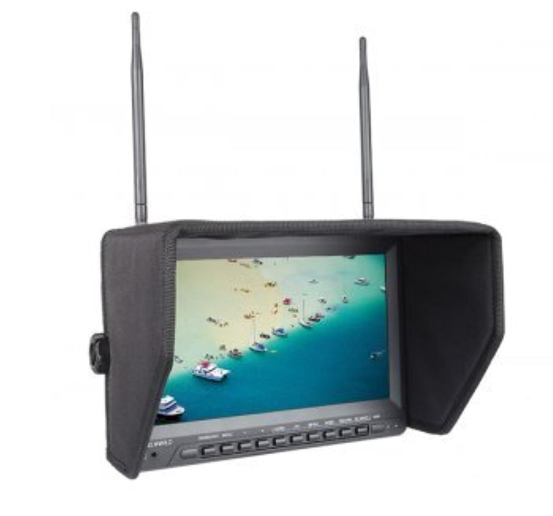FEELWORLD PVR 1032 5.8G 10 インチ HD 無線空撮FPVモニター デュアル32CHダイバーシティ受信機内蔵  航空写真専用
