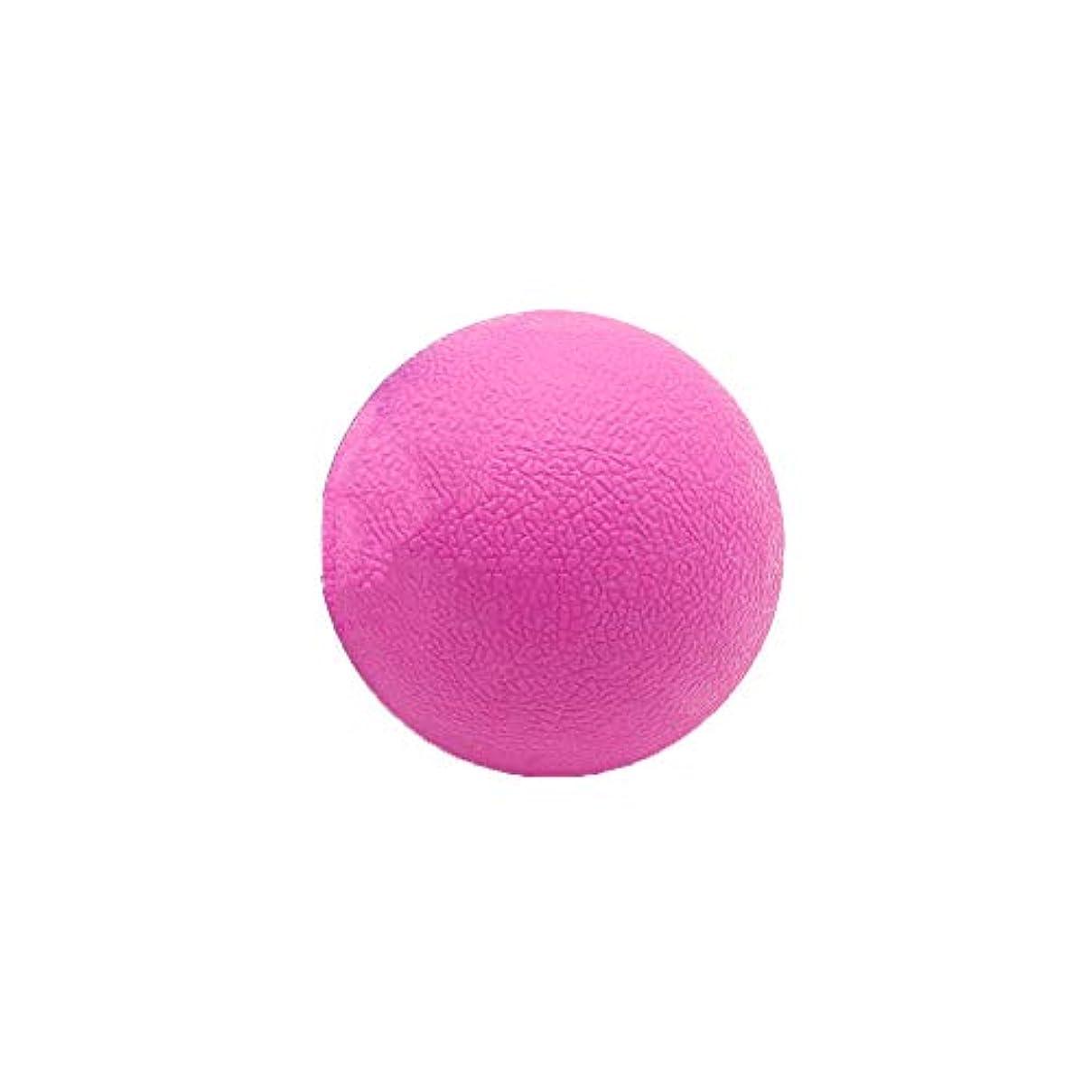 なくなるしがみつく悲しいTyou ロングホッケー ボール ストレッチ リリース マッサージボール 足部 マッサージボール 背中 筋肉 トレーニングボール ピンク
