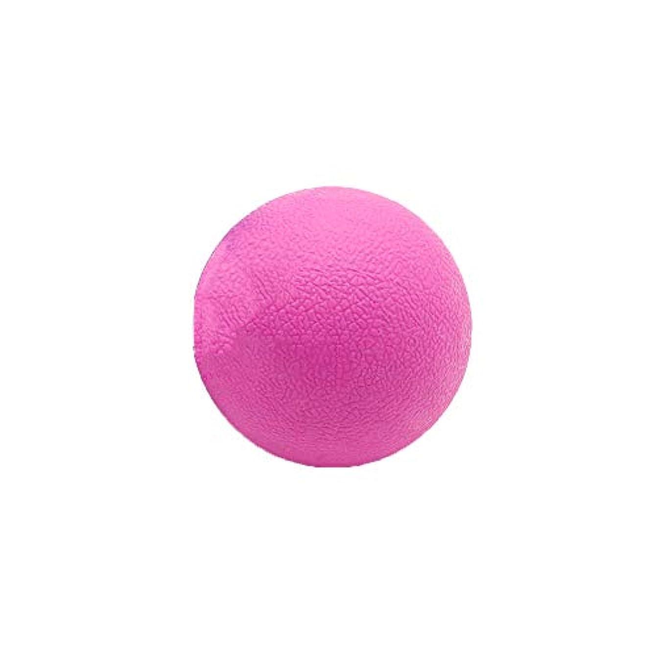 銃ユーザー割り込みTyou ロングホッケー ボール ストレッチ リリース マッサージボール 足部 マッサージボール 背中 筋肉 トレーニングボール ピンク