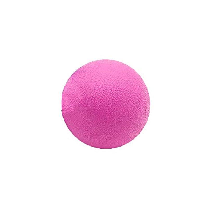 テープ付ける好むTyou ロングホッケー ボール ストレッチ リリース マッサージボール 足部 マッサージボール 背中 筋肉 トレーニングボール ピンク