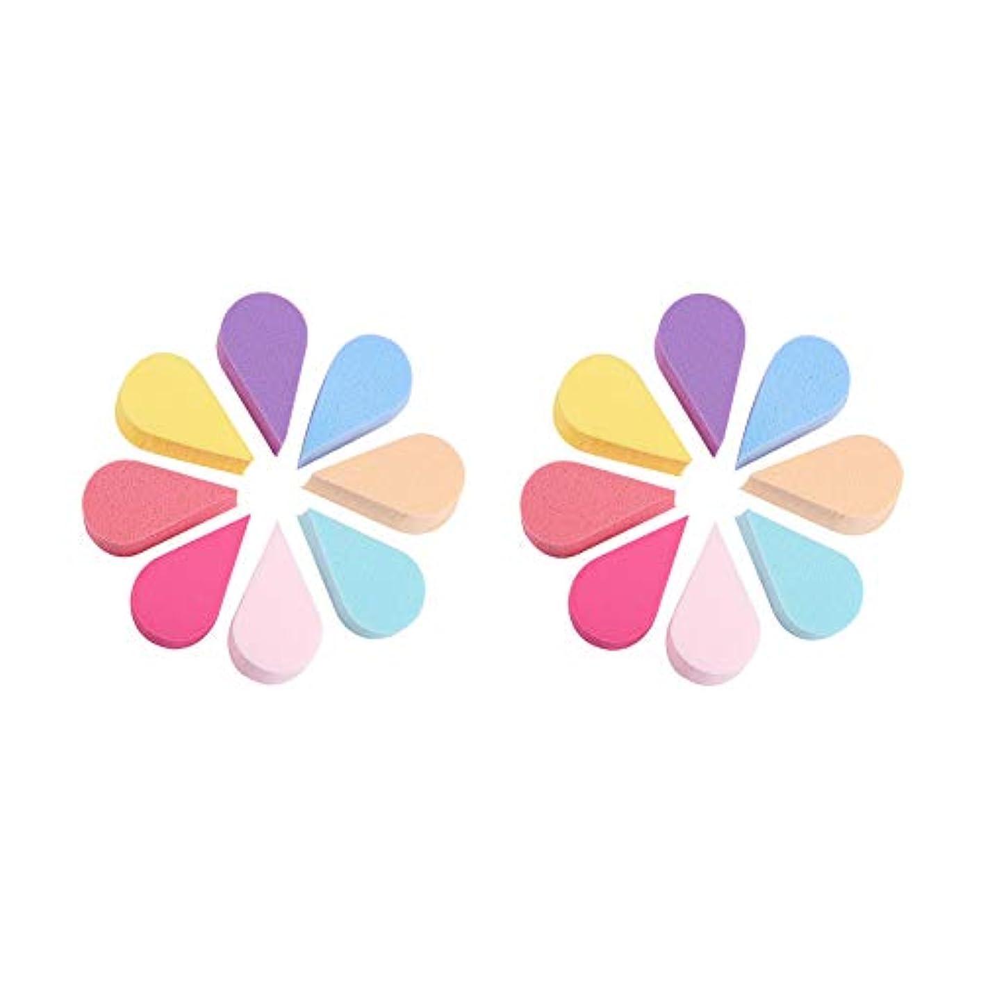 無駄な八のりWANDIC メイクアップスポンジ, 16個 8色 の フェイスペインティング花びらスポンジ ビューティーブレンダーセット クリームパウダー用 フルメイク カバー財団