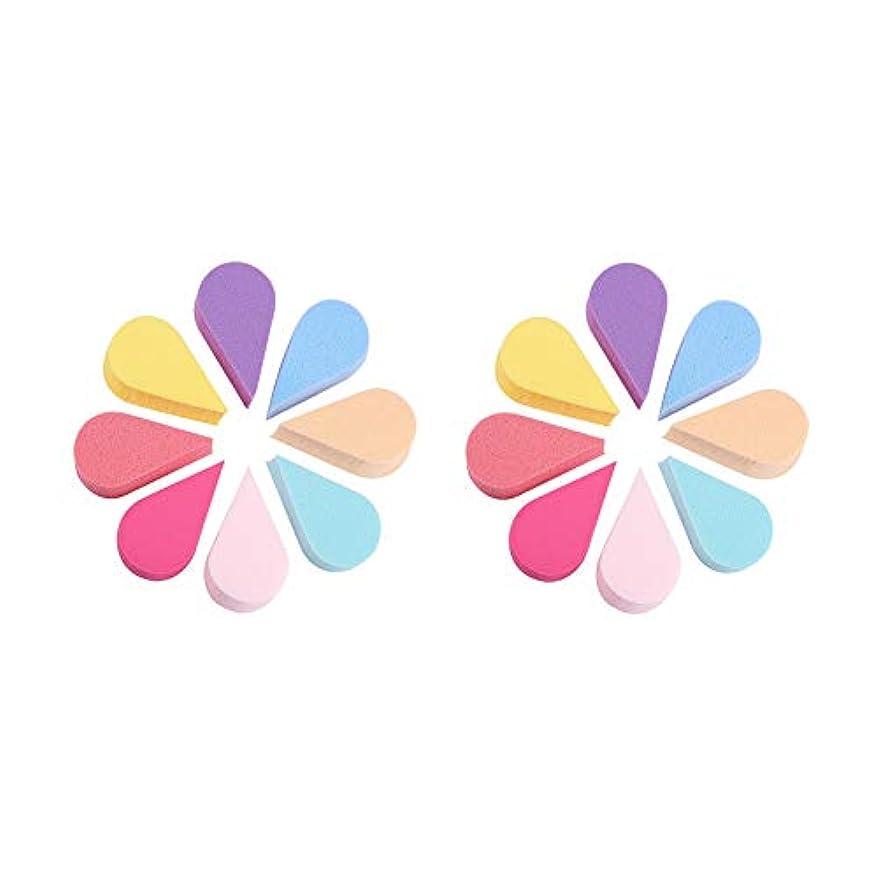 アンソロジー北米ほのめかすWANDIC メイクアップスポンジ, 16個 8色 の フェイスペインティング花びらスポンジ ビューティーブレンダーセット クリームパウダー用 フルメイク カバー財団
