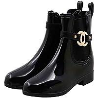 MEIGUIshop Rain Boots - Bottom Tube rain Boots, Non-Slip Shoes, Elastic Accessories, Rubber Shoes