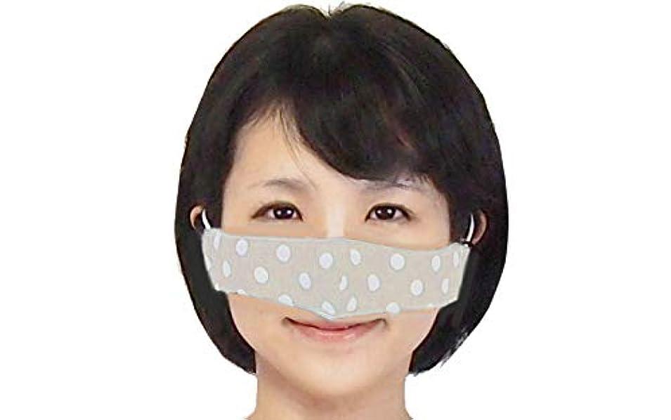癌特権的加入鼻マスク セサミ 鼻だけマスク ノーズマスク ダブルガーゼ使用 耳ひもはアジャスター付で長さ調整可能 水玉模様の可愛いマスク おまけ花粉対策有益情報付