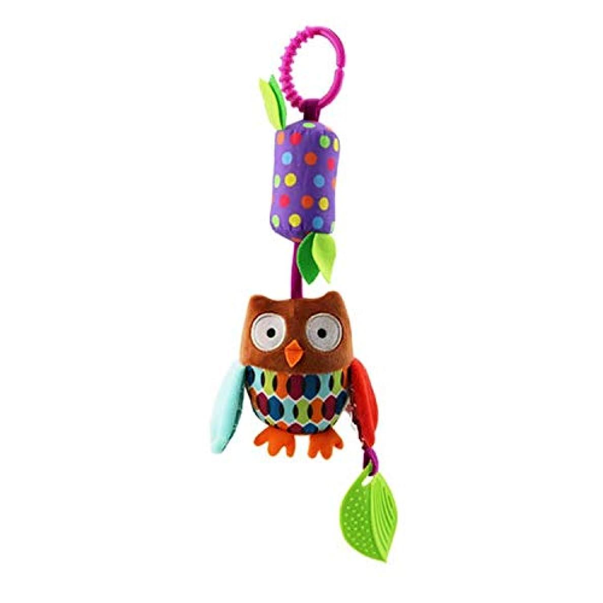 シャーロックホームズ話をするペダルLINSUNG 赤ちゃん乳母車のベビーカーのおもちゃガラガラ音を立てて鳴る鳴き声知育玩具 新生児用カーシートベッド旅行活動ぬいぐるみ動物風鈴男の子用ティーザー付き Owl