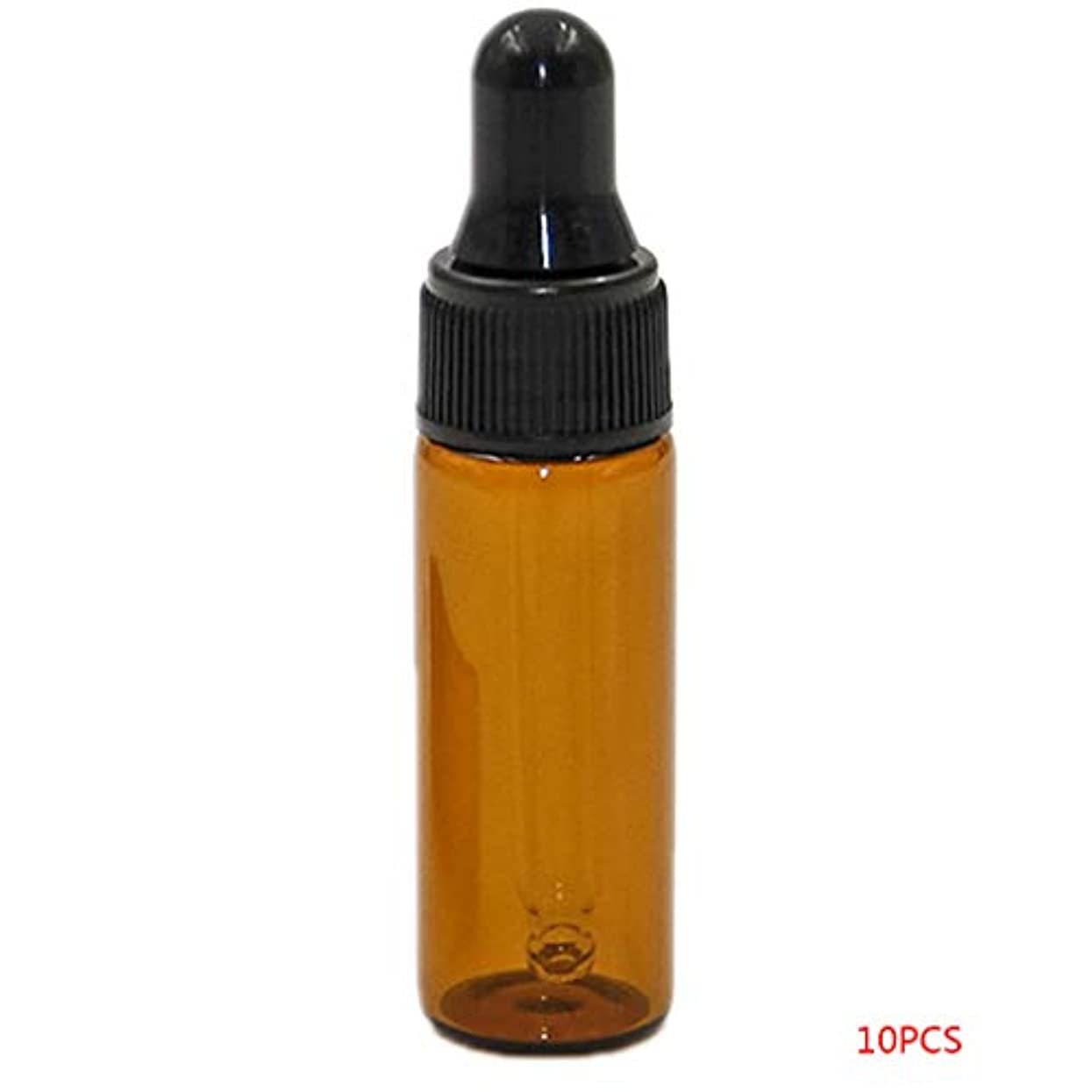報復宝石マインドTopFires アロマオイル 精油 小分け用 遮光瓶 セット 茶 ガラス アロマ ボトル オイル 用 茶色 瓶 ビン エッセンシャルオイル 保存 詰替え 瓶 ビン